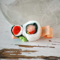 Sushi novelty hair clip from VioletsBuds
