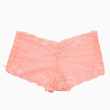 Plus Size Lace Boyshorts With Lace-Up Side | Wet Seal Plus