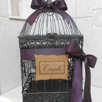Birdcage Wedding Card Holder / Card Box / Wedding Birdcage Cardholder