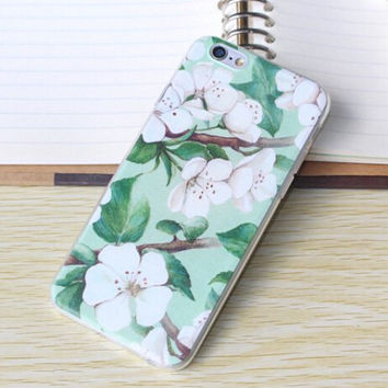 Retro Flower Case Ultrathin Cover for iPhone 5 6 6s Plus Gift