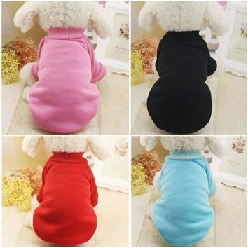 US Pet Dogs Clothes Sweater Coat Puppy Cat Sweatshirt Jacket Pet Apparel Costume