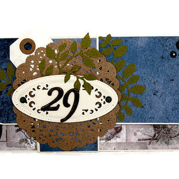 Masculine Birthday Gift Card Holder, Eco Friendly Gift Card Pocket, Money Holder, Unique Birthday Gift Wrap For Him, Men's Birthday Card
