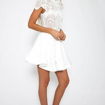 Nareesha Dress - White