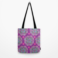 Star Flowers Tote Bag by Sarah Oelerich