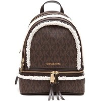 MICHAEL MICHAEL KORS 'Rhea' md printed saffiano backpack