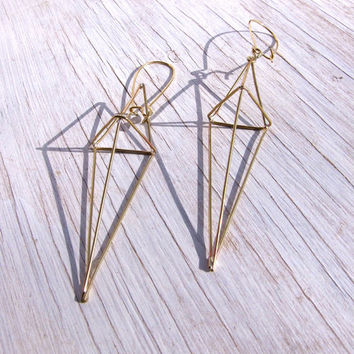 Geometric Earrings Himmeli jewelry Kite