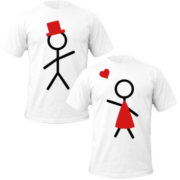 stickfiger love Couple Tshirts