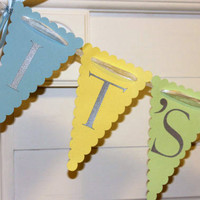 Its A Boy Banner, Baby Shower Decoration, Photo Prop, Birth Announcement - Any Occasion Banners