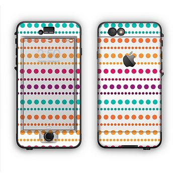 The Colorful Polka Dots on White Apple iPhone 6 Plus LifeProof Nuud Case Skin Set