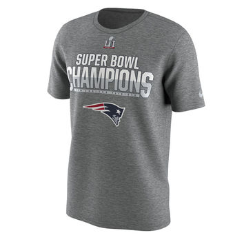 Men's New England Patriots Nike Heathered Gray Super Bowl LI Champions Celebration Respect T-Shirt