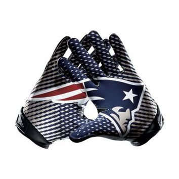 Nike Vapor Jet 2.0 NFL New England Patriots Men's Football Gloves - White