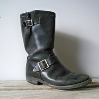 The Perfect Motorcycle Boot  Size W 10 M 8 by OceanSwept on Etsy