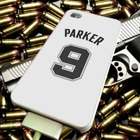 adidas white san antonio spurs tony parker jersey nba for iPhone, iPod, Samsung Galaxy, HTC One, Nexus ***