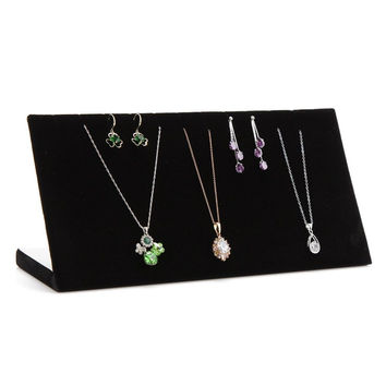 Qise Chain Board Black Velvet Jewelry Display (Black)