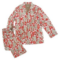 Nick & Nora® Women's Pajama Coat  Set -  Santa Monkey