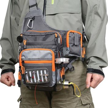 23*21*8.5 cm Freshwater Fishing Lure Tackle Bag Crossbody Sling Bag Pack BackPack Light and Breathable