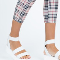 Therapy Elastic Rafter Sandals White