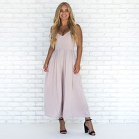 Airy Fairy Jumpsuit in Stone
