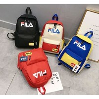 FILA canvas student backpack genuine tide bag