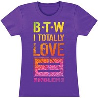Emblem3  B.T.W. Junior Top Purple