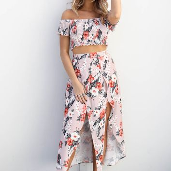 Days In The Sun Floral Two Piece Set