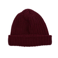 Archival Knit Cap - Burgundy