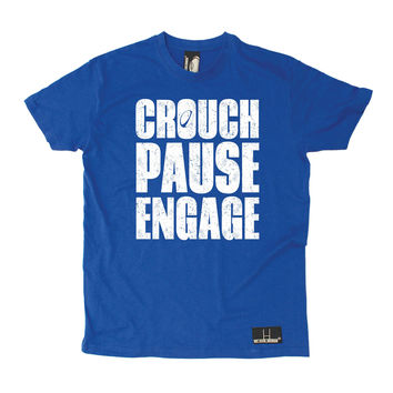 Up And Under Men's Crouch Pause Engage Rugby T-Shirt