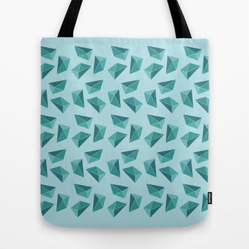 Blue Pattern Tote Bag by Kayleigh Rappaport