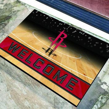 FANMATS Houston Rockets Crumb Rubber Welcome Door Mat