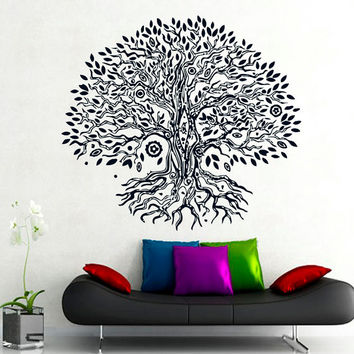 Wall Decals Yoga Vinyl Sticker Decal Yoga Studio Gym Decor Home Interior Design Art Murals MN 264