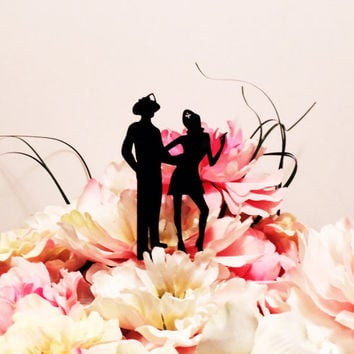 Sexy Fireman and Nurse Love Cake Topper