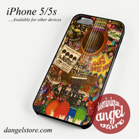 The Beatles Hippie Guitar Phone case for iPhone 4/4s/5/5c/5s/6/6s/6 plus