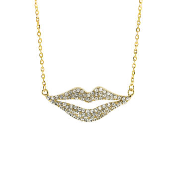 Sexy Lips Pendant Necklace