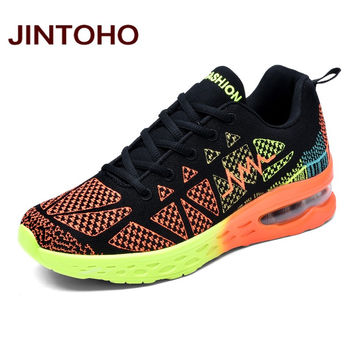 JINTOHO Unisex Lightweight Running Shoes Flywire Men Sneakers Women Sport Running Shoes Outdoor Athletic Walking Shoes