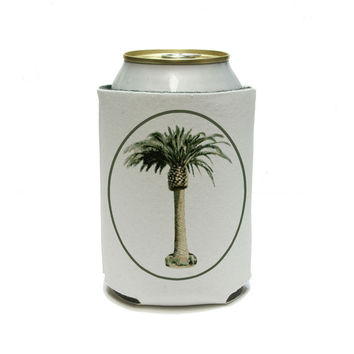 Palm Tree - Hawaii Luau Tropical Beach Wedding Shower Can Cooler Drink Insulator Beverage Insulated Holder