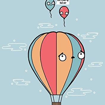 'Hot Air' Balloon Bully Humor 18x24 - Vinyl Print Poster