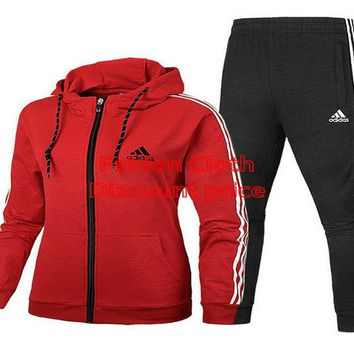 adidas Essentials Linear Pullover Hoodie Red Adidas Trousers Black Suit