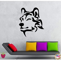 Wall Stickers Vinyl Decal Animal Wolf Predator Tribal Decor Unique Gift (z2044)
