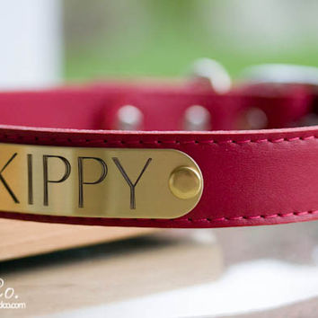 Leather Dog Collar Personalized