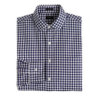 J.Crew Mens Ludlow Spread-Collar Shirt In Navy Gingham