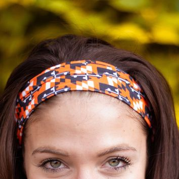 Maryland Flag Black & Orange (Style 3) / Headband