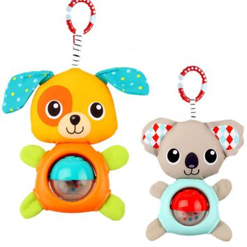 baby animal rattles toy  Koala  puppy bed / carriages hanging plush toys  cartoon  baby Infant Rattles kids grasping Toys  TO208