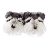 Aroma Home Fun For Feet Schnauzer Dog Slippers