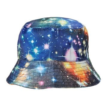 ZLYC Galaxy Bucket Hat Fisherman Outdoor Cap for Men Women