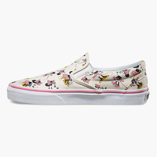 2935bb2b8a Vans Disney Minnie Mouse Classic Womens Slip-On Shoes Pink Combo In Sizes