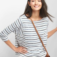 Softspun boxy stripe batwing top | Gap