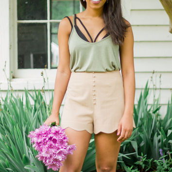 Taupe Them All Shorts