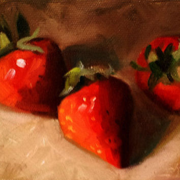 Threesome 4 x 6 Daily Oil Painting by LittletonStudio on Etsy