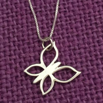 Butterly Necklace - Small Butterfly Jewelry  - Sterling Silver Butterfly Necklace - Gift - Gift for Daughter - Graduation Gift