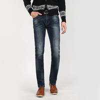 Winter Korean Slim Denim Pants Cotton Jeans [6541366211]